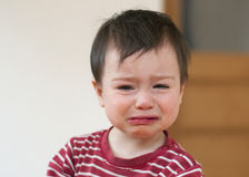 Crying child. Portrait of a little child, girl or boy, crying Stock Images