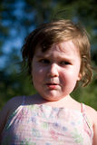 Crying Child. Portrait of crying sad child Royalty Free Stock Photos