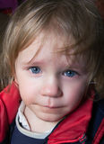 Crying child. Sad crying little cute child Stock Photography