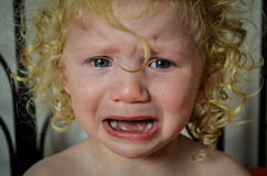 Crying child royalty free stock images