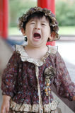 The crying Chinese girl Stock Photography
