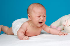 Crying chinese infant baby Royalty Free Stock Photography