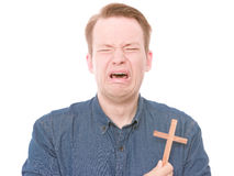 Crying christian Stock Photo