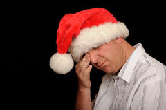 Crying Christmas Man Stock Photography
