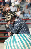 Crying Clown. Clown performing at a rodeo Royalty Free Stock Images