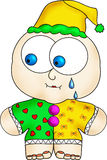 Crying clown Stock Images