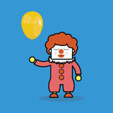 Crying clown holding balloon. Stock Photography