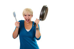 Crying cook Royalty Free Stock Photography