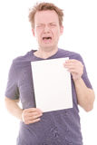 Crying copy Stock Photo