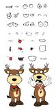 Crying Deer cartoon emotions set2 Royalty Free Stock Images