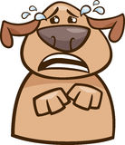 Crying dog cartoon illustration Royalty Free Stock Photography