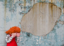 Crying doll Royalty Free Stock Photos