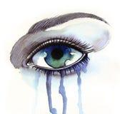 crying eye διανυσματική απεικόνιση