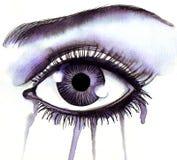 crying eye απεικόνιση αποθεμάτων