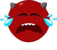 Crying face emoji imp royalty free illustration