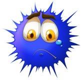 Crying face on blue splash Stock Image