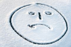 Crying face in the snow Stock Photography