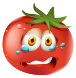 Crying face on tomato Stock Photography