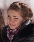 Crying female teenager Stock Image