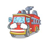 Crying fire truck mascot cartoon. Vector illustration Stock Images