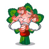Crying flower bouquet on isolated with mascot. Vector illustration royalty free illustration