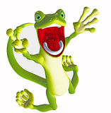 Crying gecko toon Stock Images