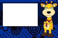 Crying Giraffe cartoon expression background Royalty Free Stock Image