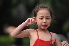 Crying girl royalty free stock image