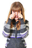 Crying girl stock images