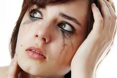 Crying girl. Crying sad young girl close up Royalty Free Stock Photo