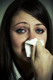 Crying girl. Close up shot Stock Photo