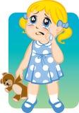 crying girl little διανυσματική απεικόνιση