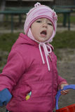 crying girl little Στοκ Εικόνες
