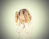 crying girl little Στοκ Φωτογραφίες