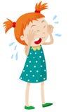 crying girl little tears διανυσματική απεικόνιση