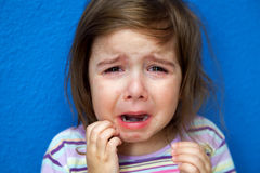 Crying Girl Scratching Chicken Pox Royalty Free Stock Photos