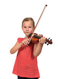 Crying girl with violin Stock Image