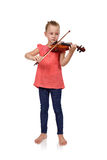 Crying girl with violin Royalty Free Stock Images