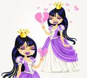 Crying gothic princess with a broken heart Royalty Free Stock Image