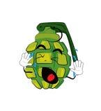 Crying Grenade cartoon Royalty Free Stock Image