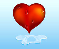 Crying heart. Royalty Free Stock Photography