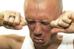 Crying His Heart Out Stock Images