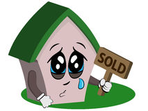 Crying house Royalty Free Stock Photography
