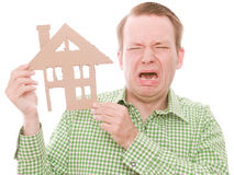 Crying houseowner Stock Photography