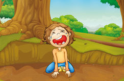 Crying. Illustration of a child crying Stock Image