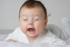 Crying infant Royalty Free Stock Image