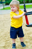 Crying kid on the playground Royalty Free Stock Image