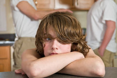 Crying kid -unhappy family moment Royalty Free Stock Images