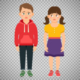 Crying kids characters on transparent background. Crying kids characters vector illustration  on transparent background Royalty Free Stock Photography