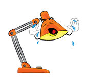 Crying Lamp cartoon Royalty Free Stock Images